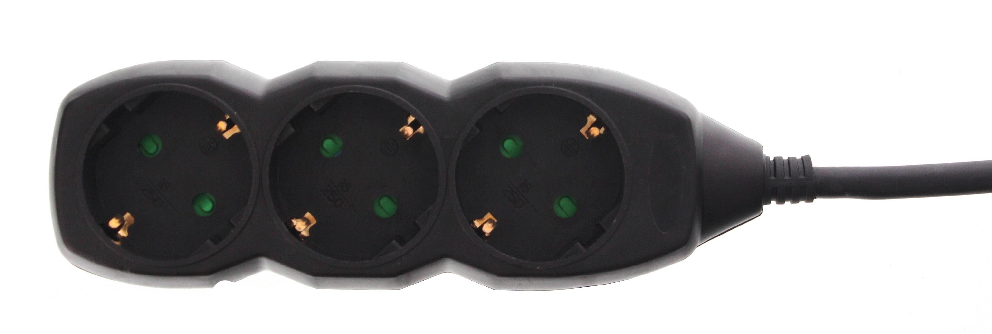 Prelungitor 3 prize 3M, cablu 3xG1.5mmp, negru, Well 0
