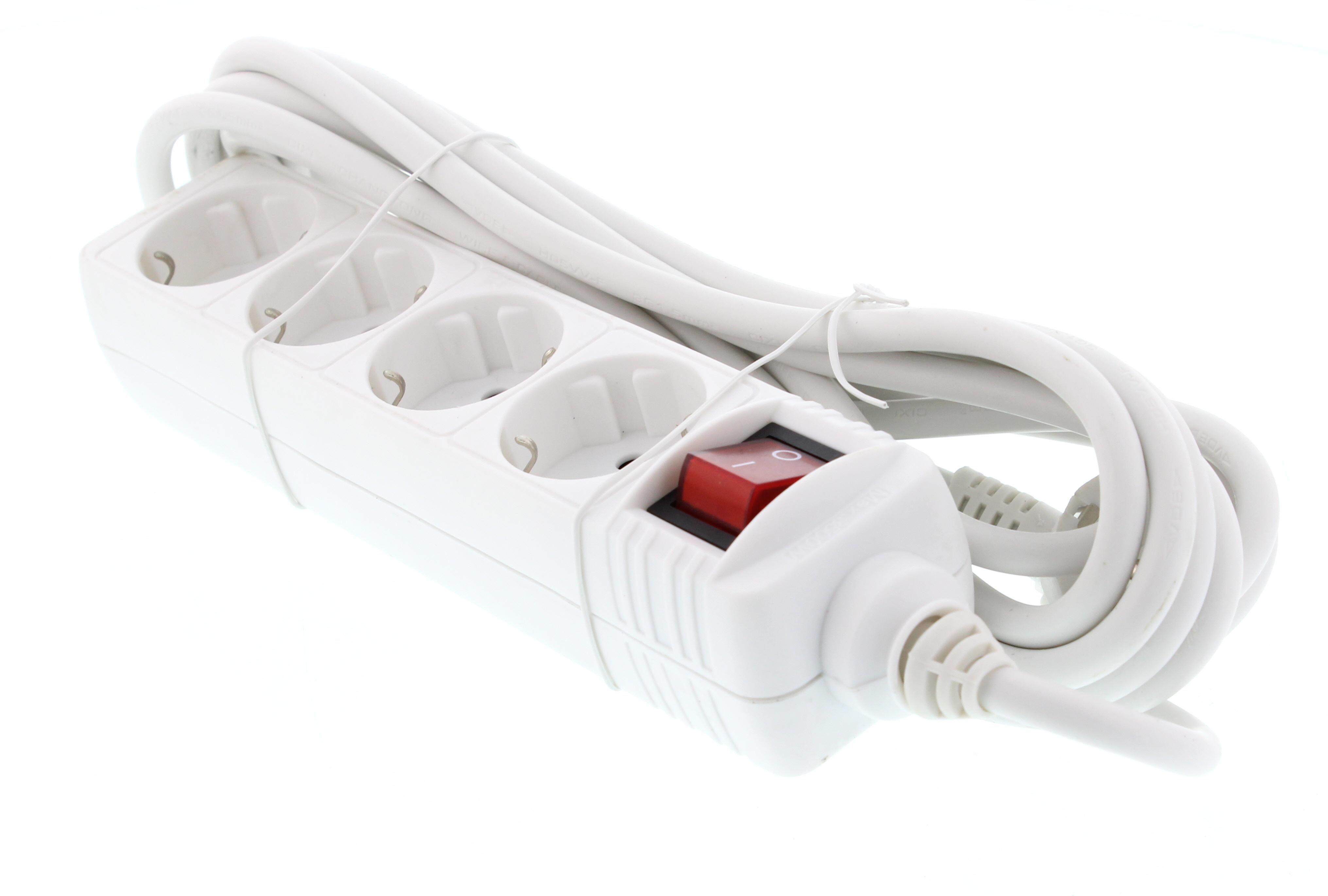 Prelungitor 4 prize 5M cu intrerupator, cablu 3xG1.5mmp, Well 0
