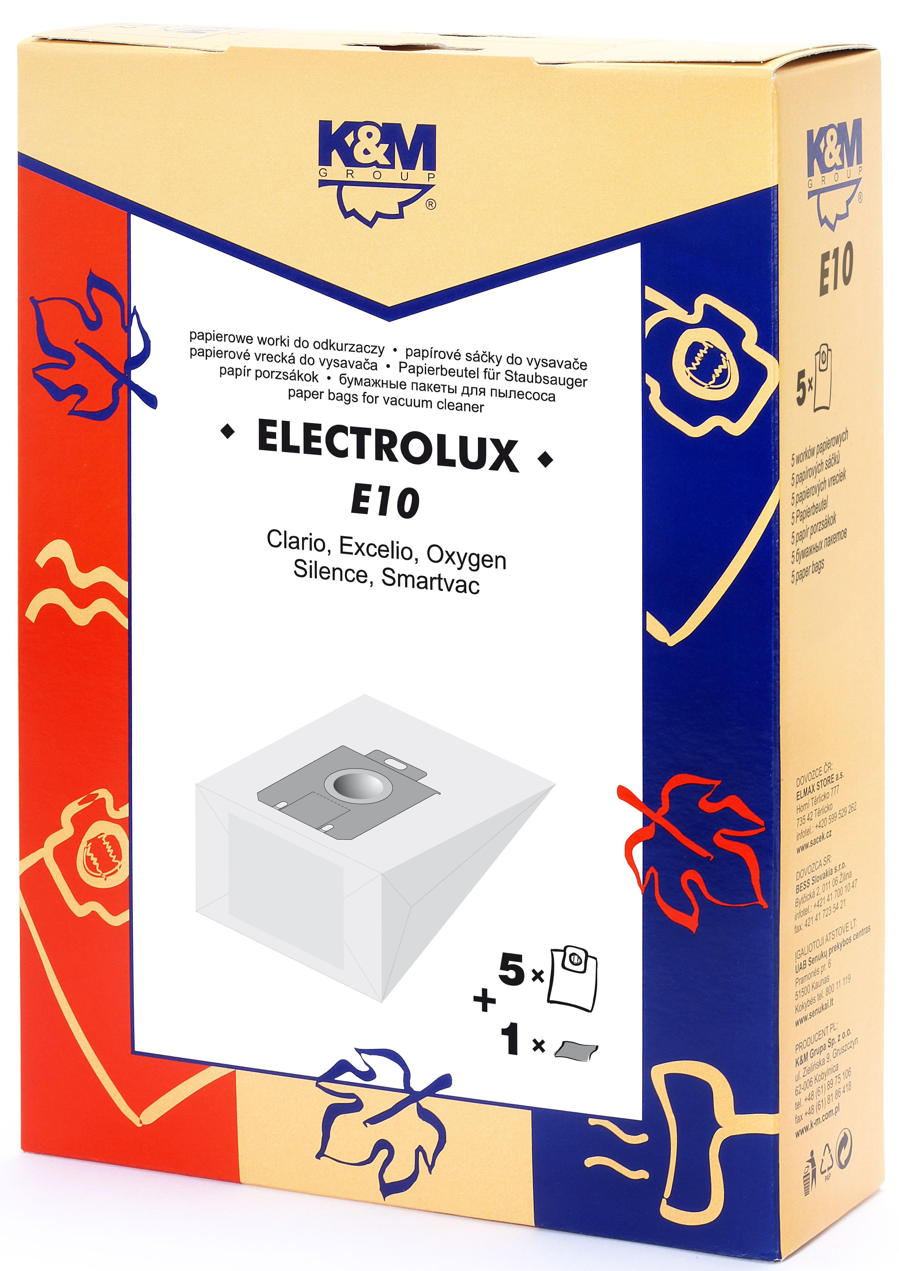 Sac aspirator Electrolux Clario, hartie, 5X saci + 1 filtru, KM